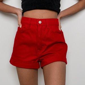 American Apparel Jean shorts.